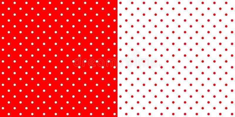 Ljus röd och vit retro modell för designprickbakgrund, royaltyfri illustrationer