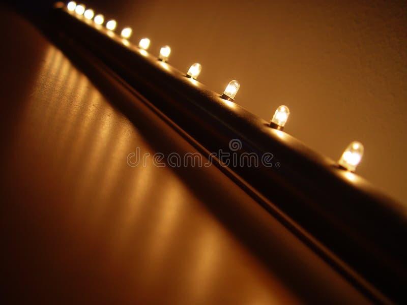 ljus rad arkivfoto