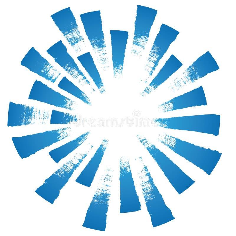 ljus radialvektor stock illustrationer