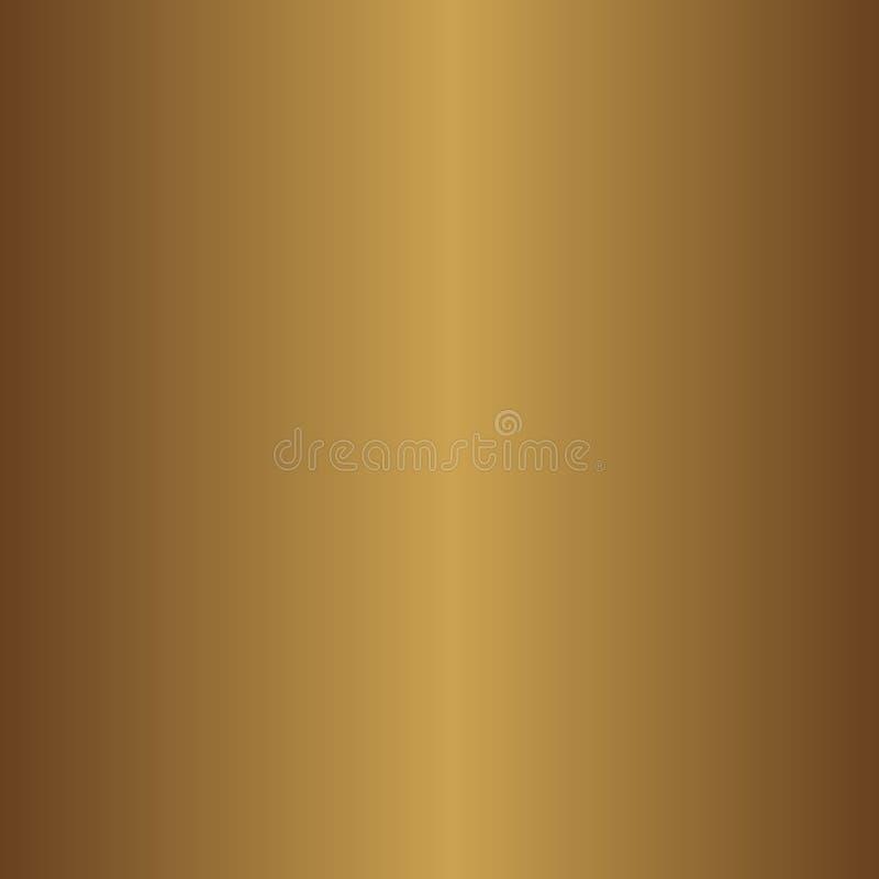 Ljus realistisk, skinande metallisk tom guld- lutningmall också vektor för coreldrawillustration royaltyfri illustrationer