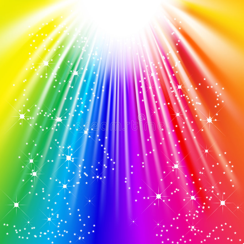 ljus regnbåge vektor illustrationer