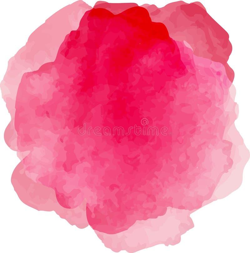 Ljus rosa abstraktion på vit vektor illustrationer