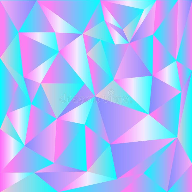 Ljus - rosa färg, glänsande triangulär mall för blå vektor Skinande kulör illustration i en splitterny stil royaltyfri illustrationer