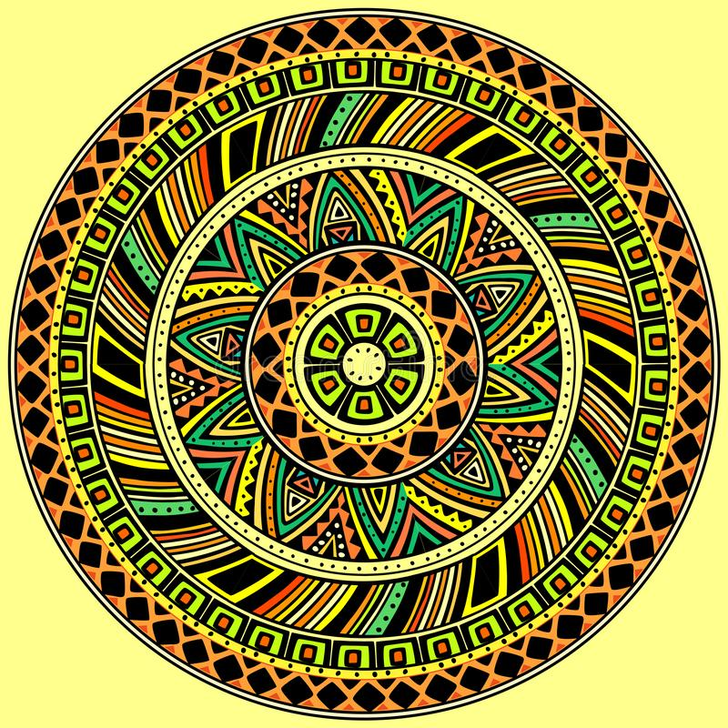 Ljus rund etnisk modell royaltyfri illustrationer