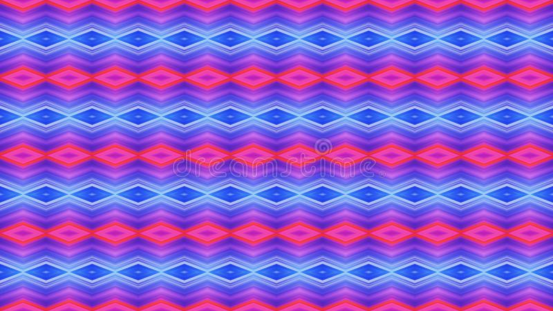 Ljus sömlös geometrisk prydnad av röd och blå diamonds_ fotografering för bildbyråer