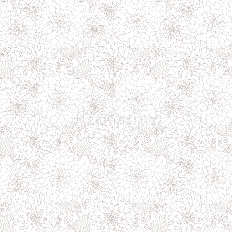 Ljus seamless textur med blommor vektor illustrationer