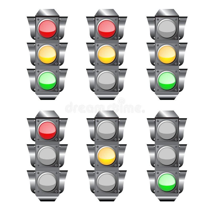 ljus semaphoretrafik stock illustrationer