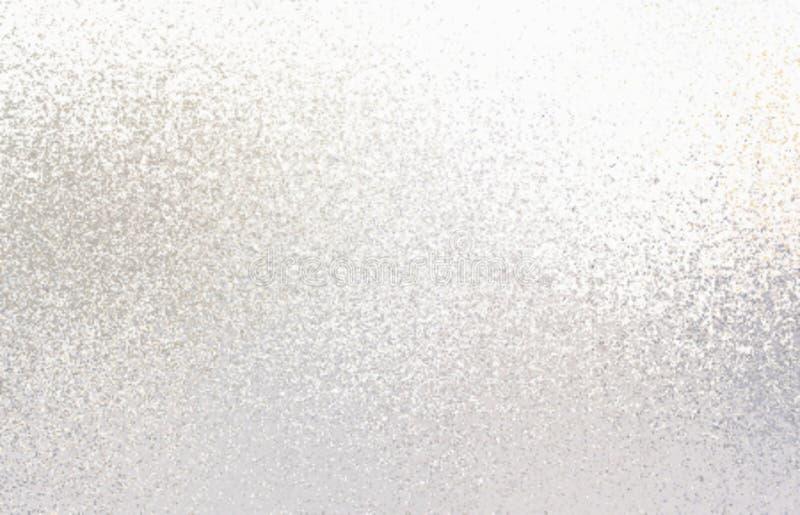 Ljus skimrar modellen t?t blank silvertextur upp frostat exponeringsglas f?r bakgrund vektor illustrationer