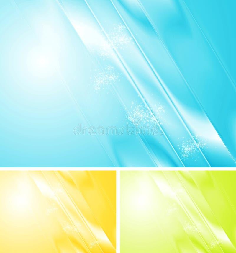 Ljus skinande vektordesign stock illustrationer
