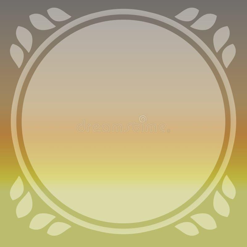 Ljus soluppgånghimmelbakgrund med det runda blocket för önska och text Kortbakgrund för tryck och rengöringsduk vektor illustrationer
