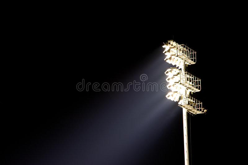 ljus stadionstand arkivbild