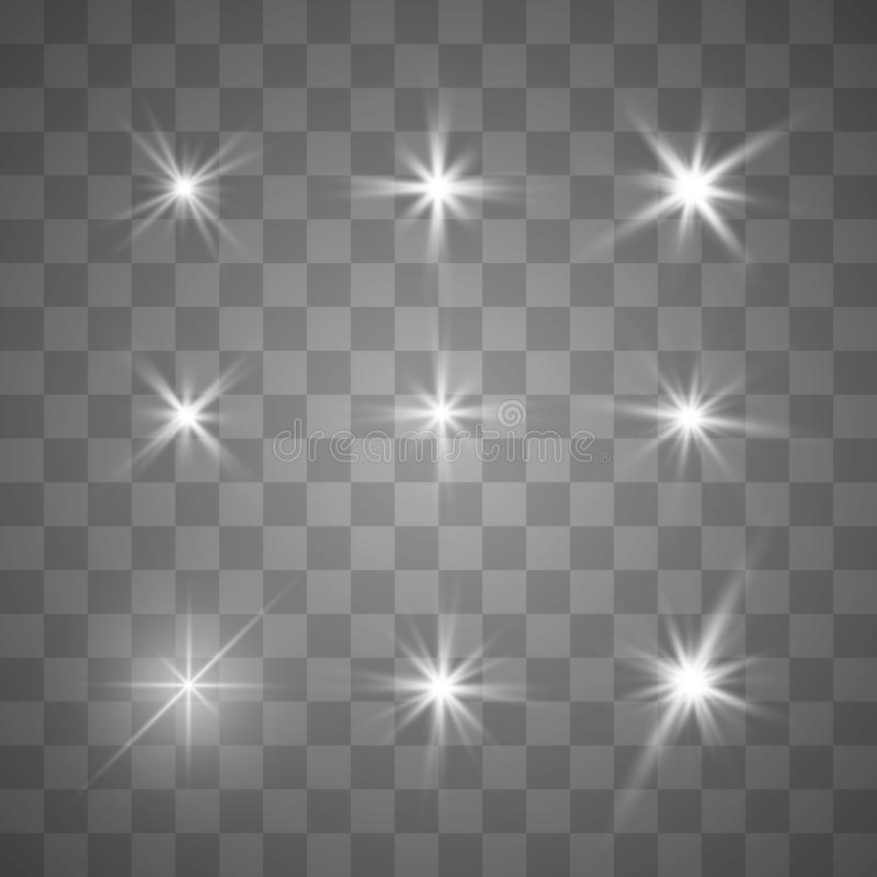 ljus stjärna stock illustrationer