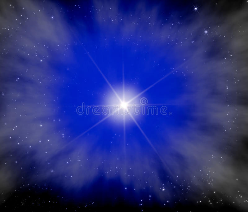 ljus stjärna för ytterkant avstånd vektor illustrationer