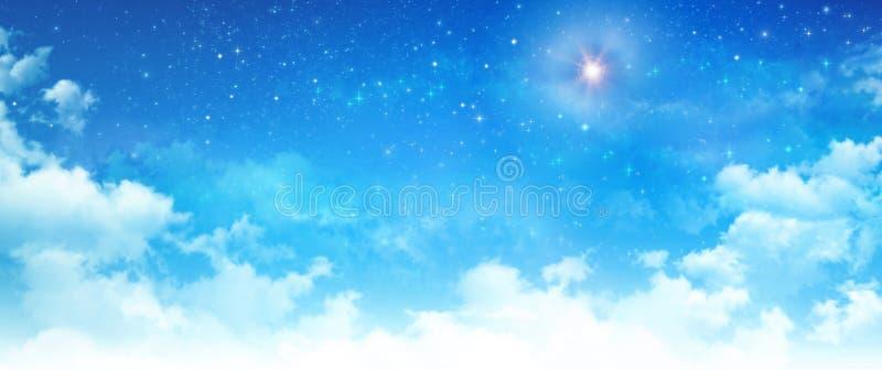 Ljus stjärna i himlen arkivfoton