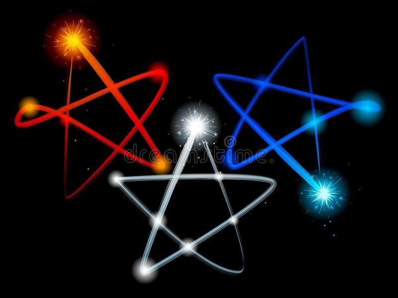 ljus stjärnatrail vektor illustrationer