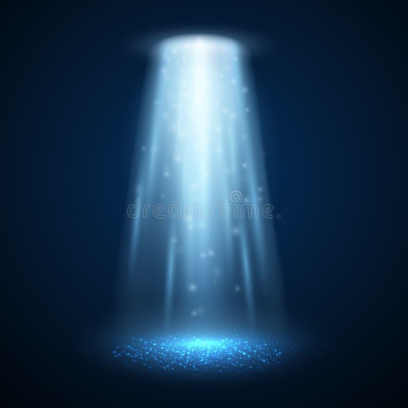 Ljus stråle för ufo också vektor för coreldrawillustration vektor illustrationer