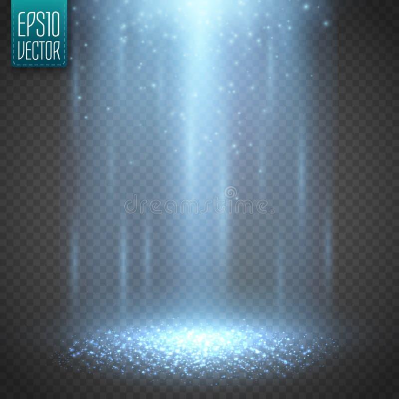 Ljus stråle för ufo på transparntbakgrund vektor stock illustrationer