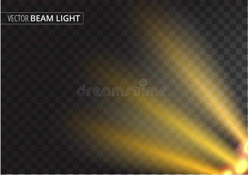 Ljus stråle för ufo som isoleras på genomskinlig bakgrund också vektor för coreldrawillustration vektor illustrationer