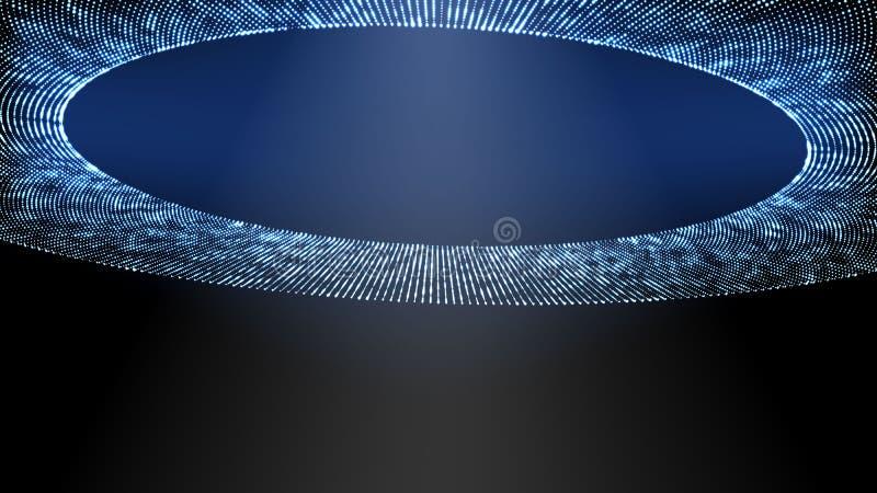 Ljus stråle för vektorbildufo, futuristiskt rymdskepp för främlingar royaltyfri illustrationer