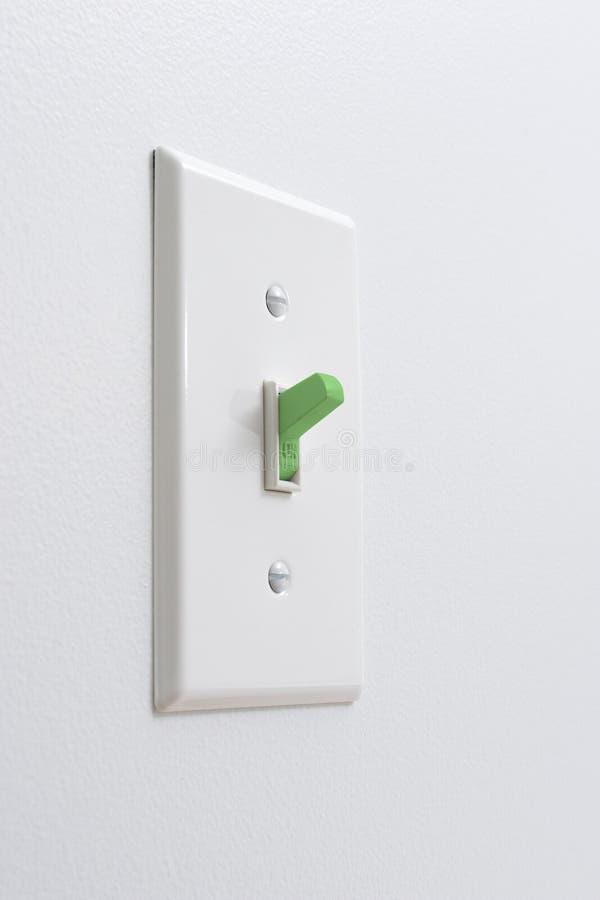 Ljus strömbrytare för hållbar grön energi royaltyfri bild