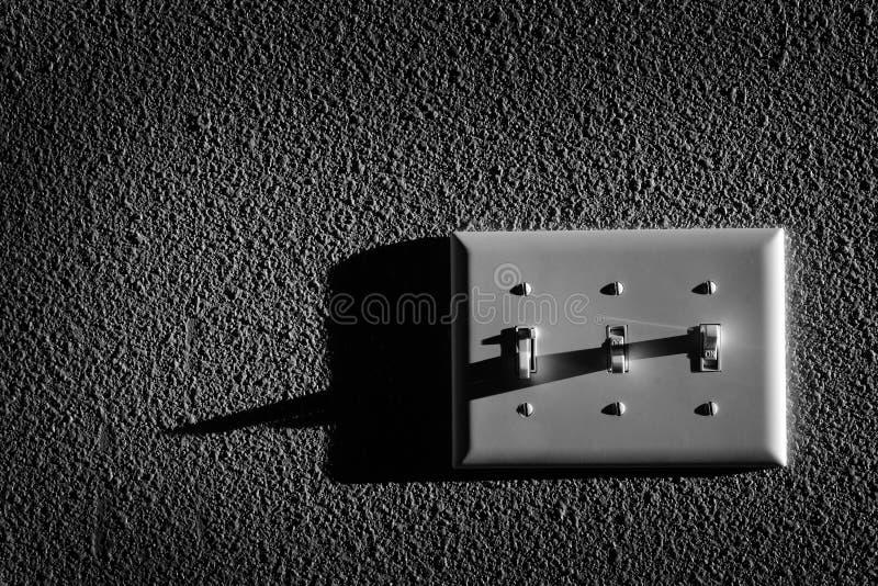 Ljus strömbrytare för roterande på makt till lampor royaltyfria foton
