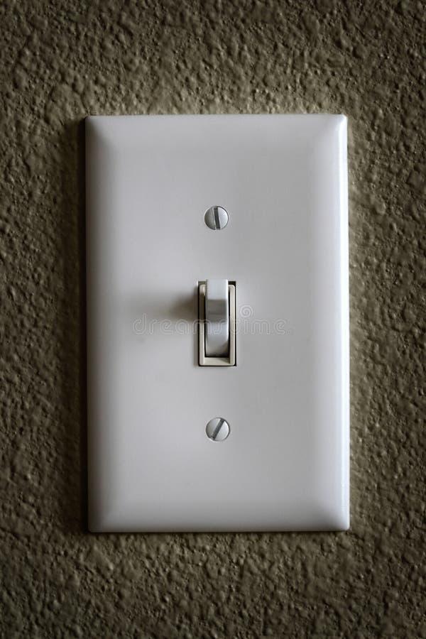 Ljus strömbrytare för Tunring 'På/av' maktelektricitet royaltyfri fotografi