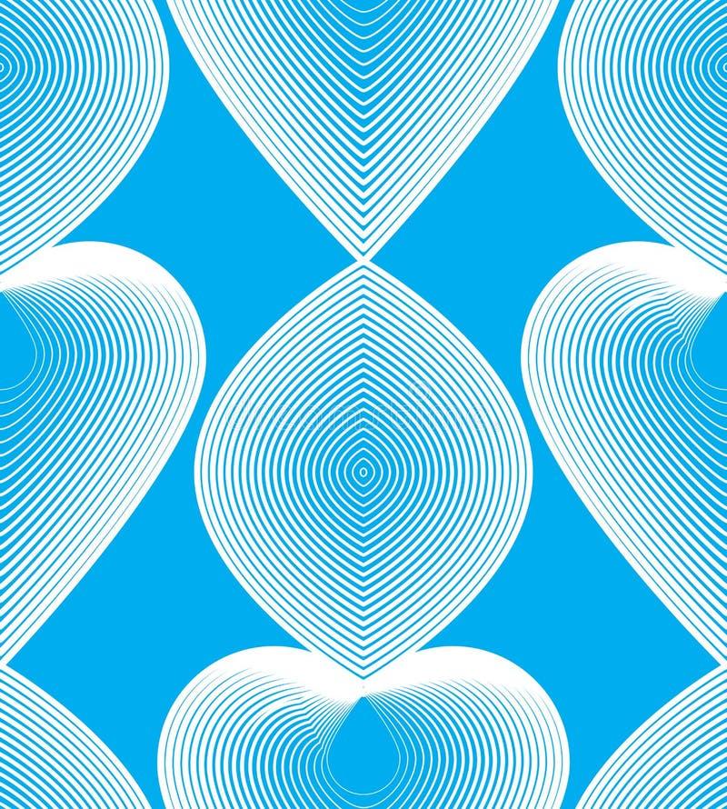 Ljus strimmig ändlös modell för vektor, konst fortlöpande geometriskt b stock illustrationer