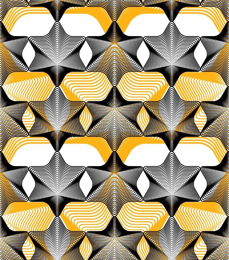 Ljus strimmig ändlös samkopieringsmodell för vektor, fortlöpande geo för konst stock illustrationer