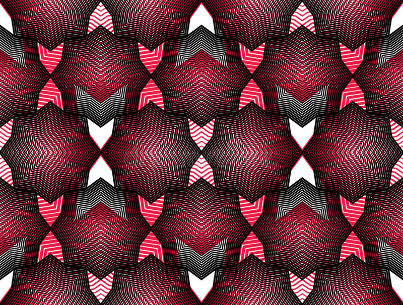 Ljus strimmig ändlös samkopieringsmodell för vektor, fortlöpande geo för konst vektor illustrationer