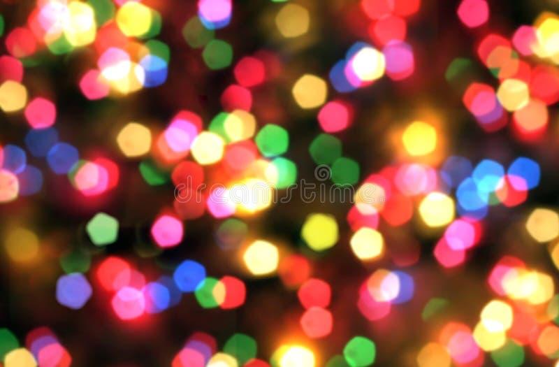 Ljus suddig bokehbakgrund för regnbåge, ferie, gyckel, disko, Ch royaltyfria foton