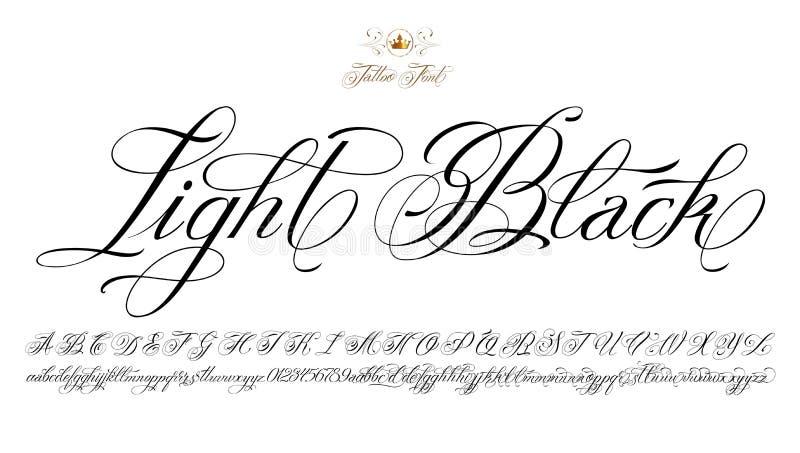 Ljus svart tatueringstilsort royaltyfri illustrationer
