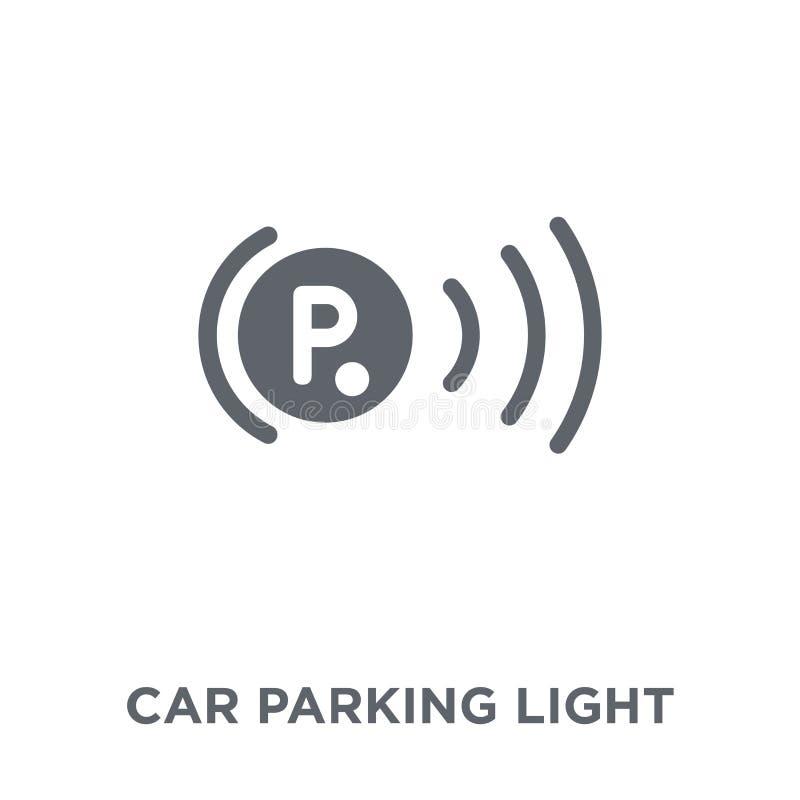 ljus symbol för bilparkering från bildelsamling vektor illustrationer