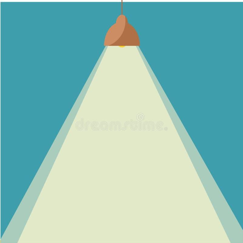 Ljus symbol för ljuskrona vektor illustrationer