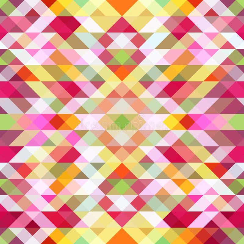 Ljus symmetrisk bakgrund från trianglar royaltyfri illustrationer