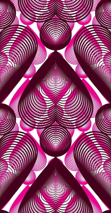 Ljus symmetrisk sömlös modell med dekorativ överlappning honom royaltyfri illustrationer