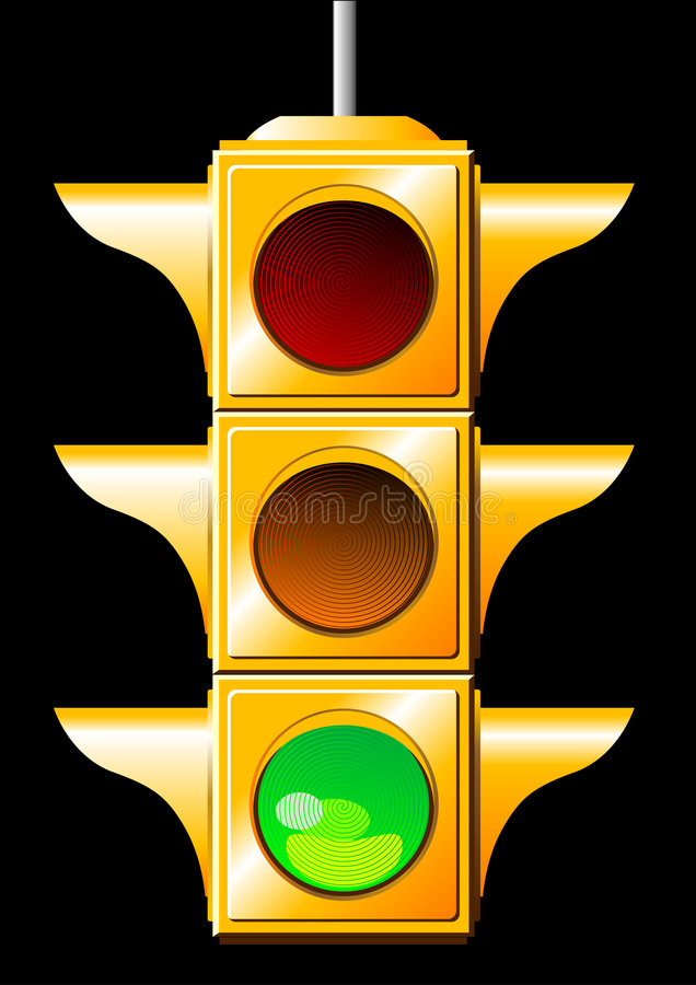 ljus trafik stock illustrationer