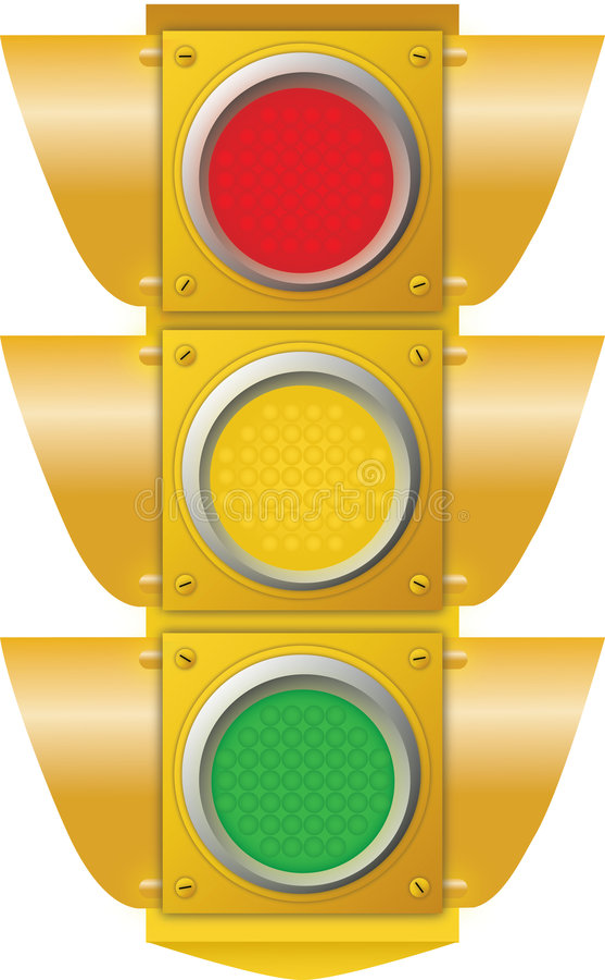 ljus trafik vektor illustrationer