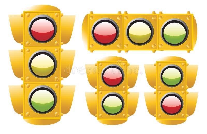 ljus trafik royaltyfri illustrationer