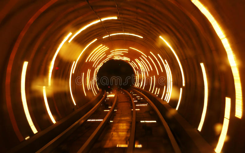 ljus tunnel royaltyfria foton
