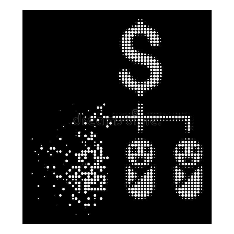 Ljus upplösa för ungebudget för PIXEL rastrerad symbol vektor illustrationer