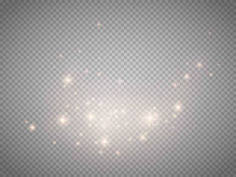 Ljus vektoreffekt för glöd Jul exponerar begrepp royaltyfri illustrationer
