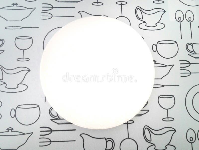 Ljus vit platta arkivbilder