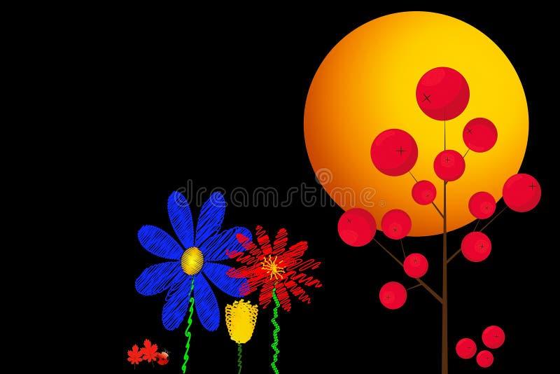 Ljusa abstrakt blommor stock illustrationer