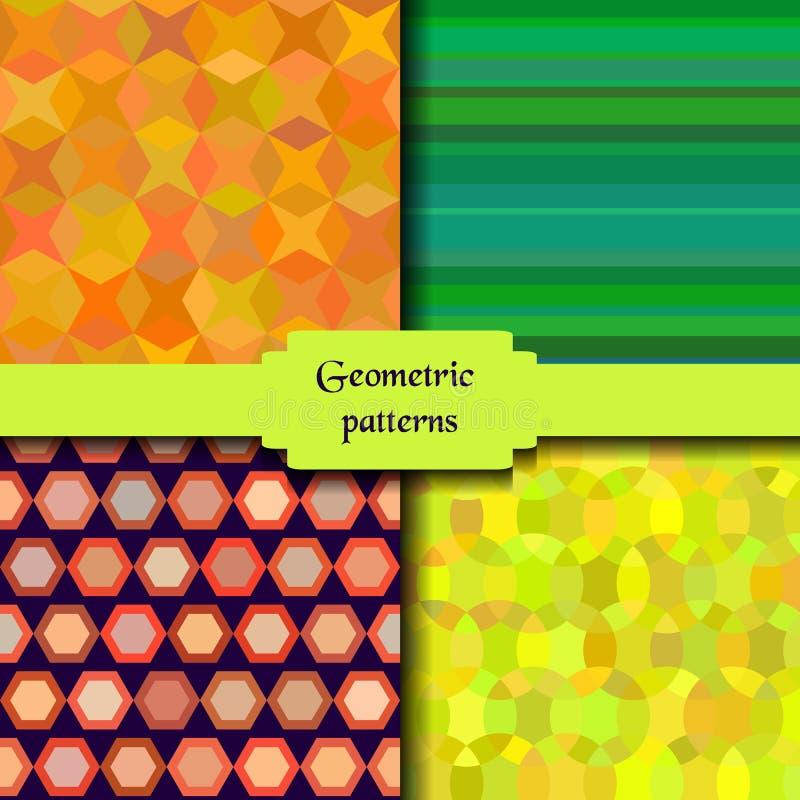 Ljusa abstrakta sömlösa modeller Designbakgrunder Sömlös textur med geometriska beståndsdelar Vektorbakgrund för vektor illustrationer
