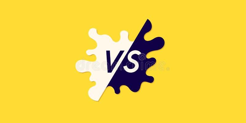 Ljusa affischsymboler av konfrontation VS ocks? vektor f?r coreldrawillustration stock illustrationer