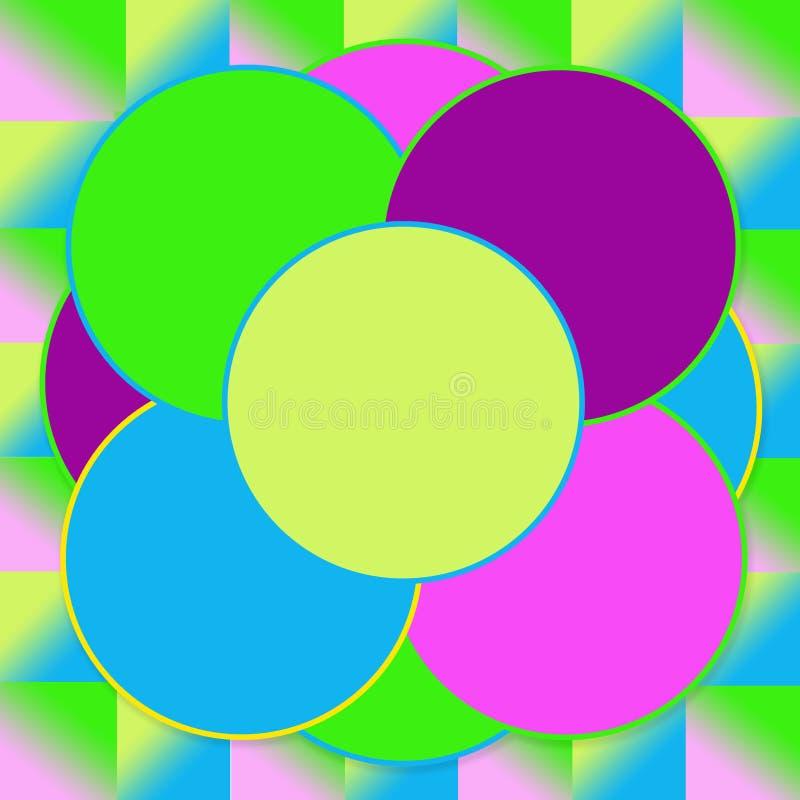 Ljusa bakgrundsabstrakt begreppcirklar royaltyfri illustrationer