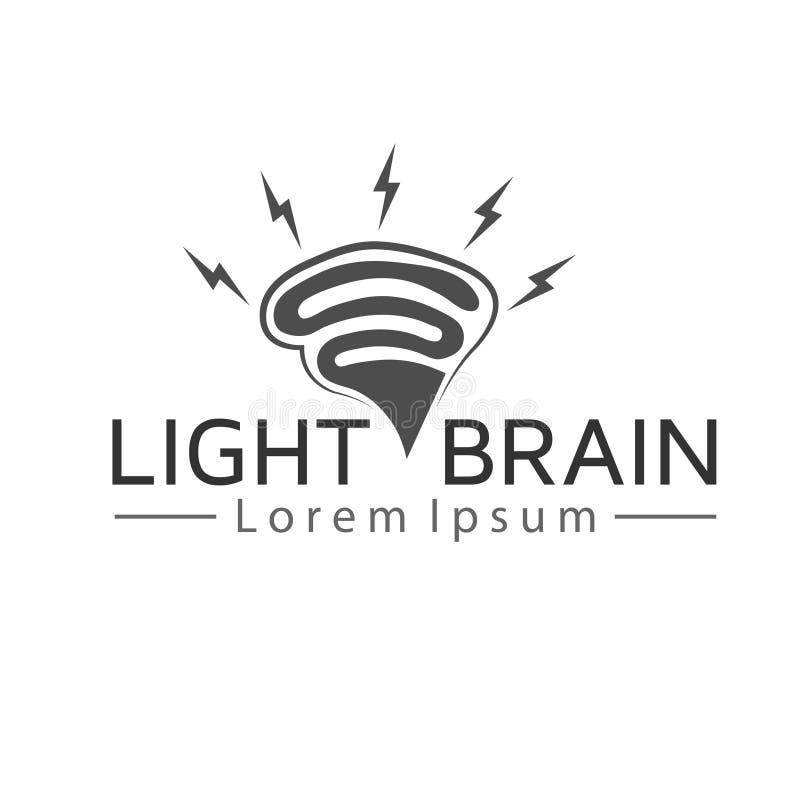 Ljusa Brain Logo stock illustrationer