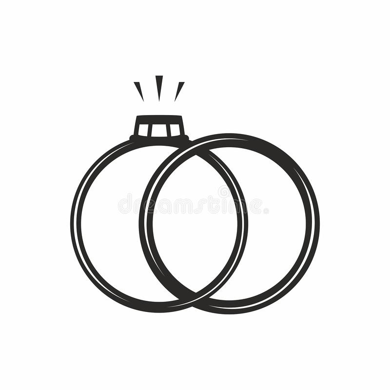 ljusa cirklar för bakgrund som gifta sig white gears symbolen royaltyfri illustrationer