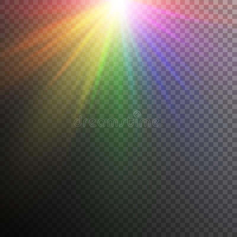 Ljusa effekter för regnbåge royaltyfri illustrationer