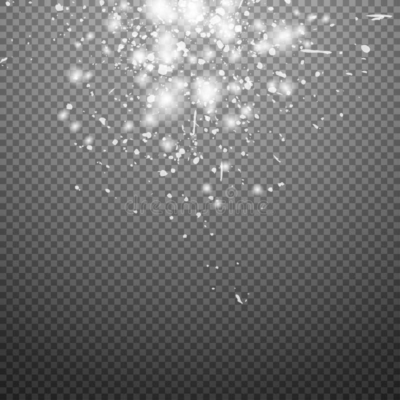 Ljusa effekter för special signalljus för design och dekor Vektorstjärnasken stock illustrationer